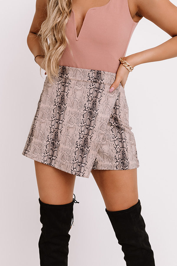 Model Behavior Snake Print Skort