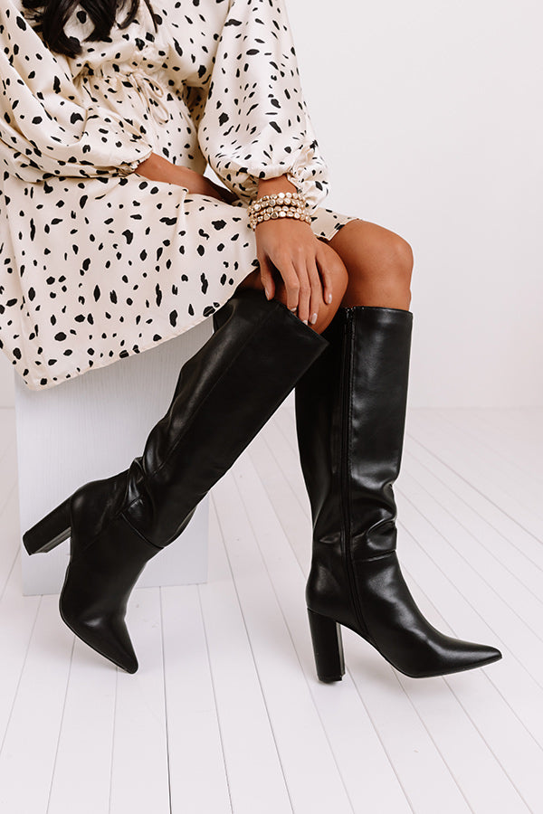 The Marsi Knee High Boot In Black
