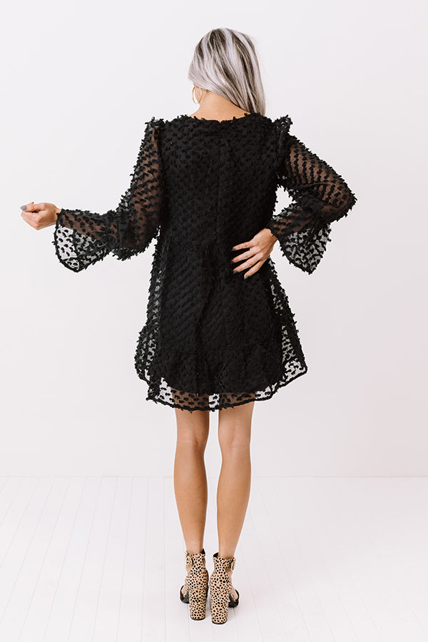 City Of Love Shift Dress In Black