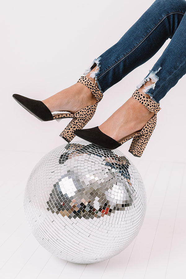The Clair Cheetah Print Heel