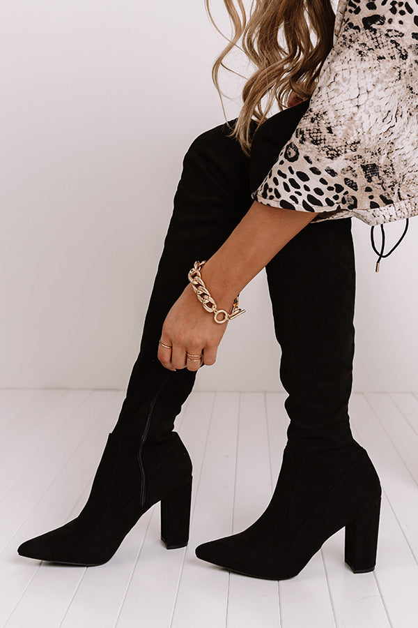 The Telluride Faux Suede Thigh High Boot