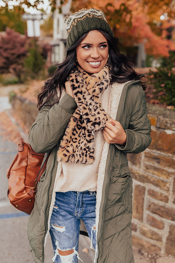 Softest Of All Leopard Scarf