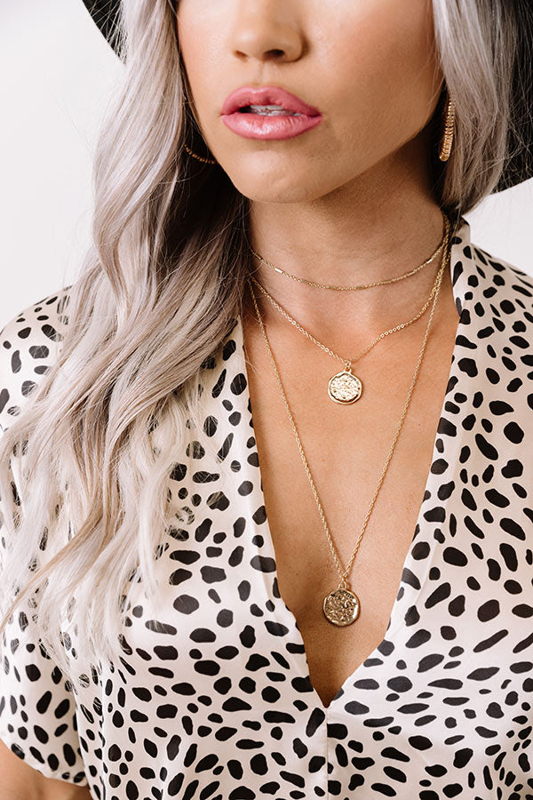 Cool Wish Layered Necklace In Gold