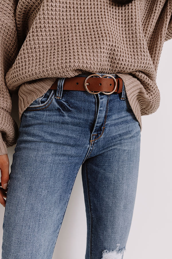 Retail Therapy Belt In Brown