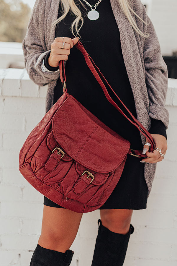 Broadway Ticket Crossbody In Aurora Red