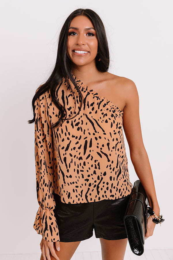 Stylish Collab One Shoulder Top