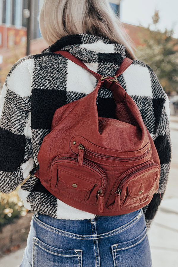 All About It Crossbody In Aurora Red