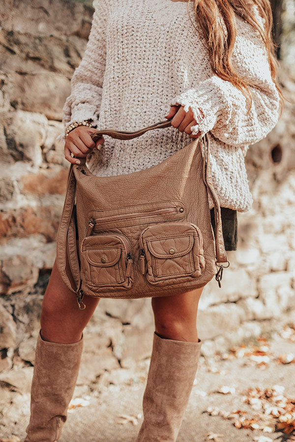 All About It Crossbody In Tan