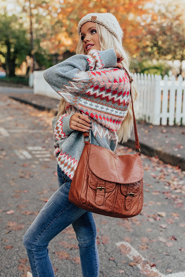 Broadway Ticket Crossbody In Brown