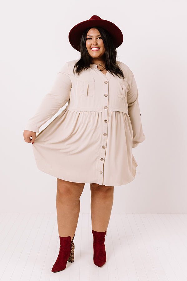 Talk Of The Town Shift Dress In Birch