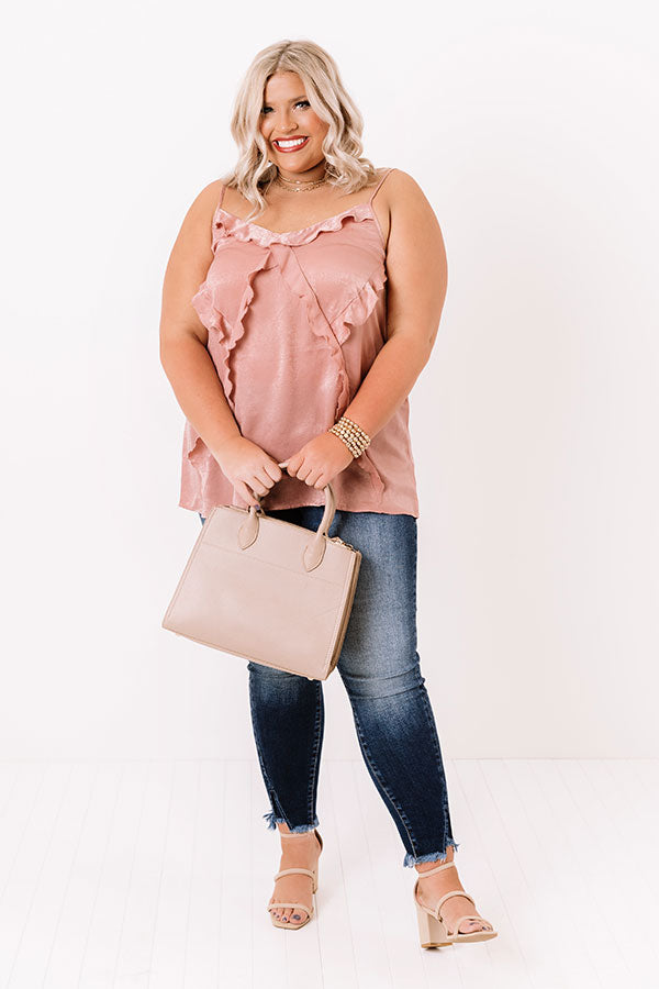 Broadway Beautiful Ruffle Top In Blush