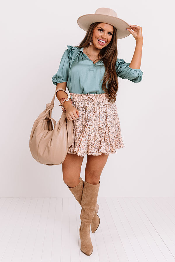 Wit And Charm Ruffle Skirt