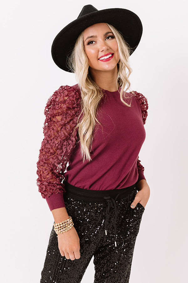 Vogue Worthy Top In Maroon
