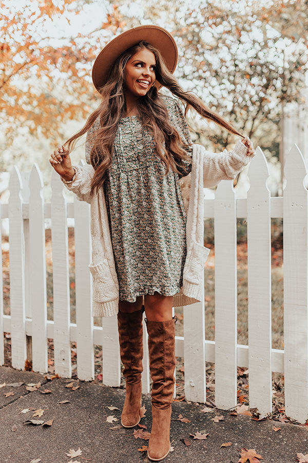 Forever Love Shift Dress In Olive