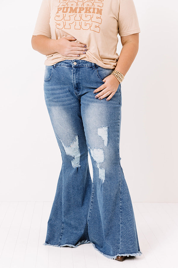 The Tayte High Waist Distressed Flare