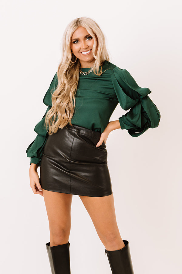 Evergreen Love Shift Top