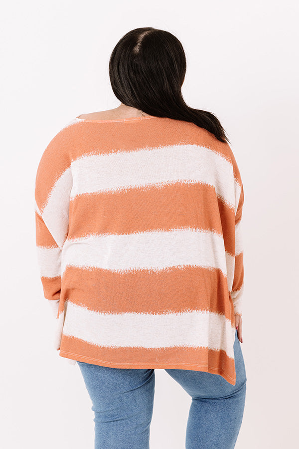 Stylish Minds Think Alike Knit Top in Tangerine
