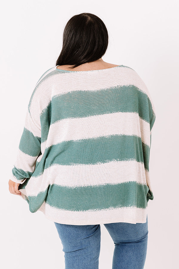 Stylish Minds Think Alike Knit Top in Teal