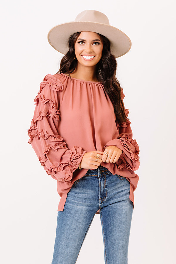 Sleek Socialite Shift Top in Blush