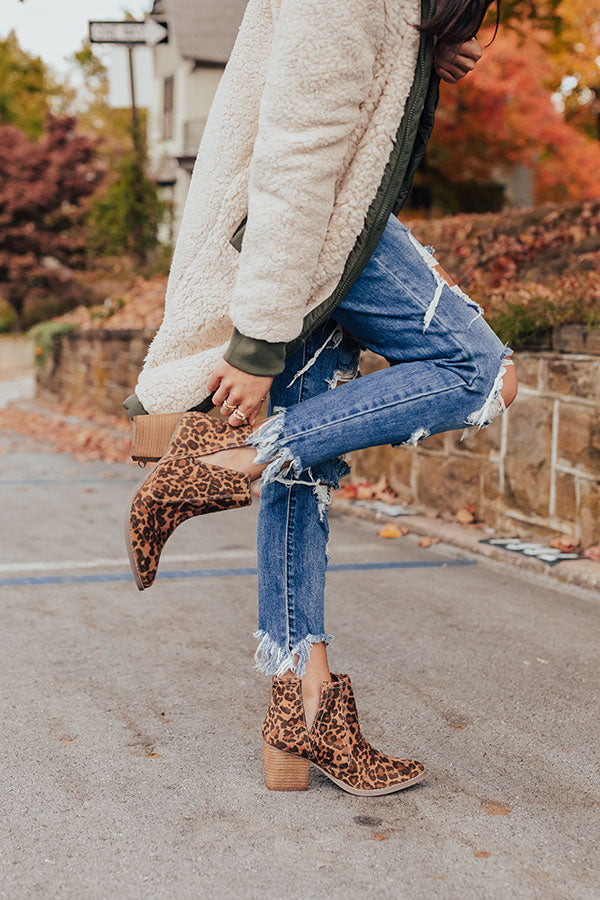 The Tarim Leopard Bootie