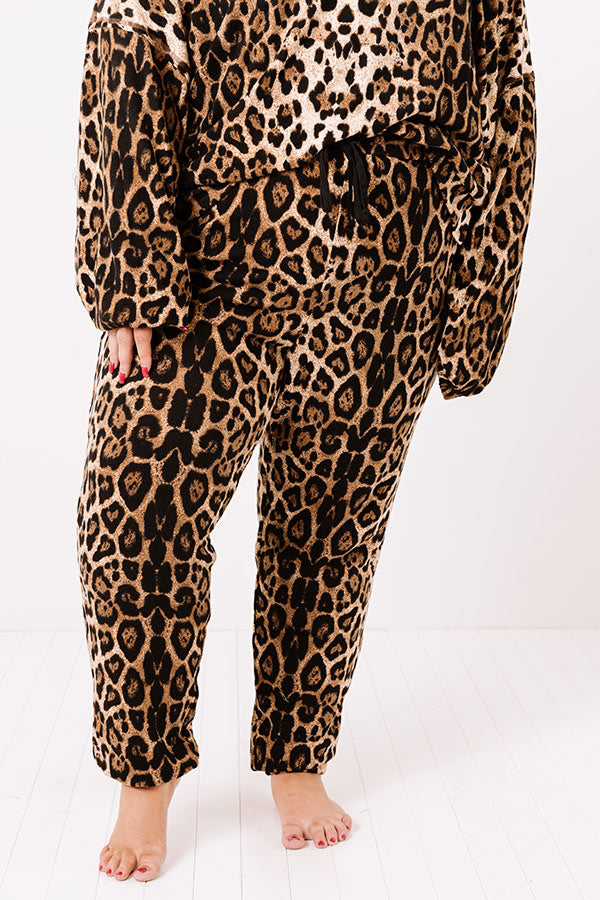 Wildest Wishes Leopard Joggers