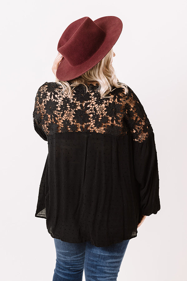 Grand Adventure Crochet Top In Black