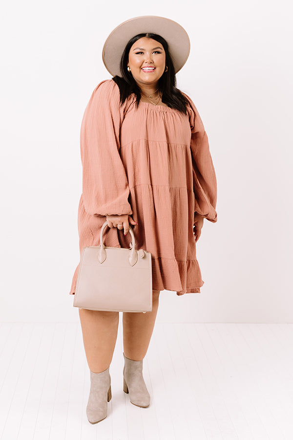 On The Way Shift Dress In Peach