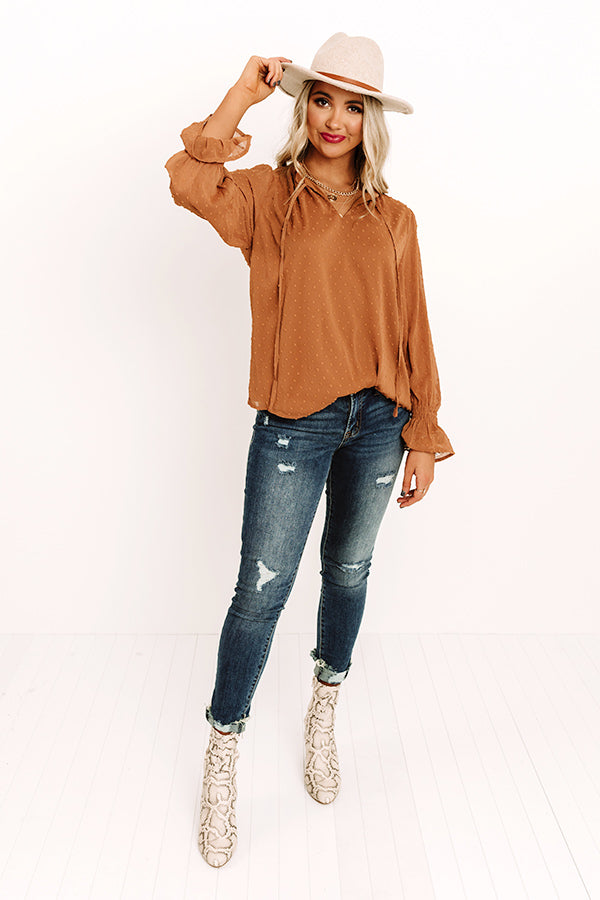 Time With Friends Shift Top In Mocha