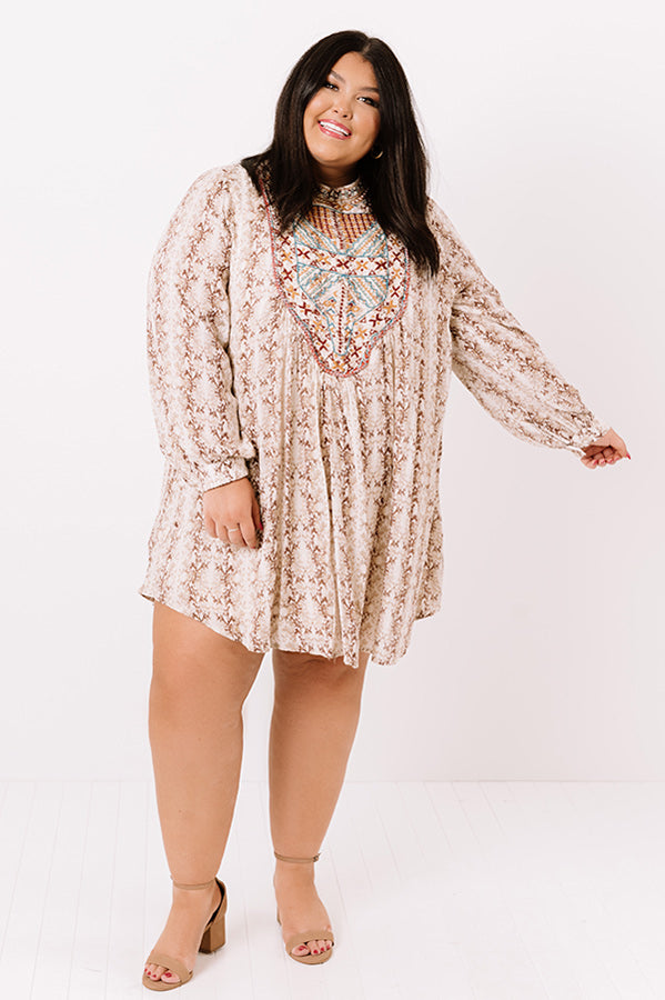 Heiress Vibes Embroidered Shift Dress