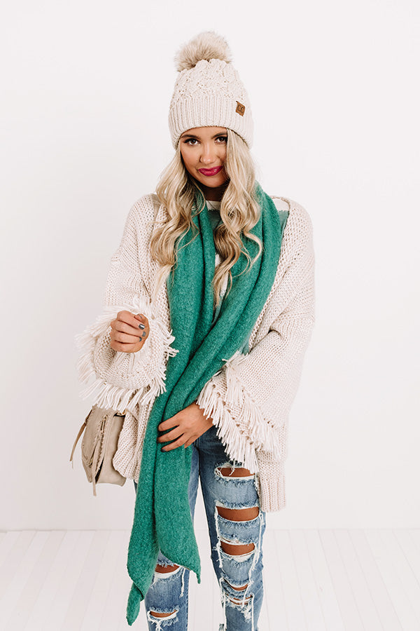 London Fog Ultra Soft Scarf In Hunter Green