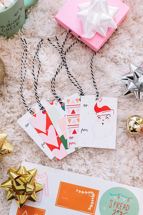 Holiday Gift Tags Set Of 10