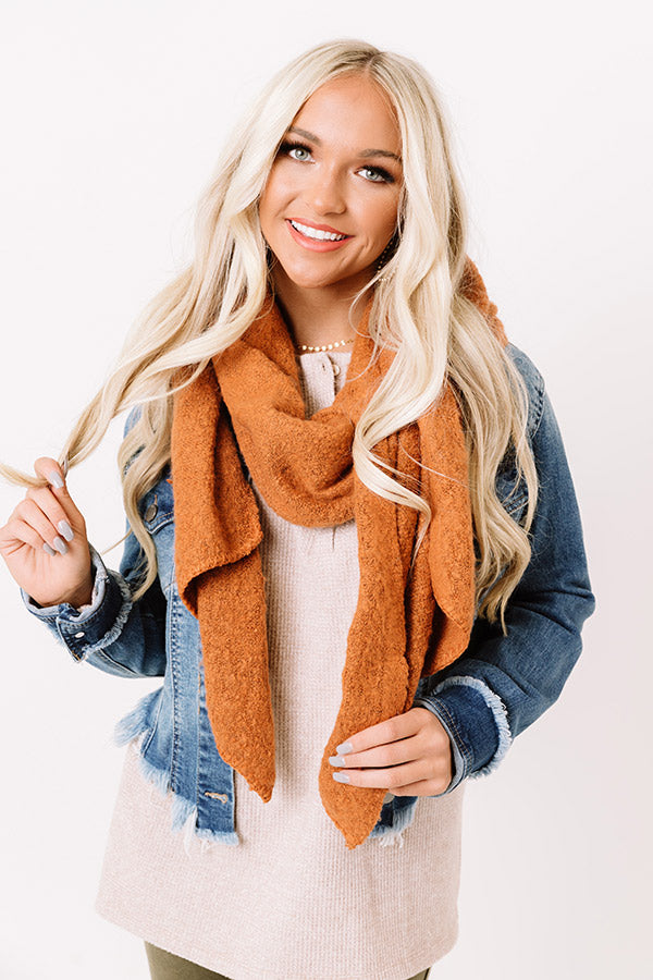 London Fog Ultra Soft Scarf In Pumpkin