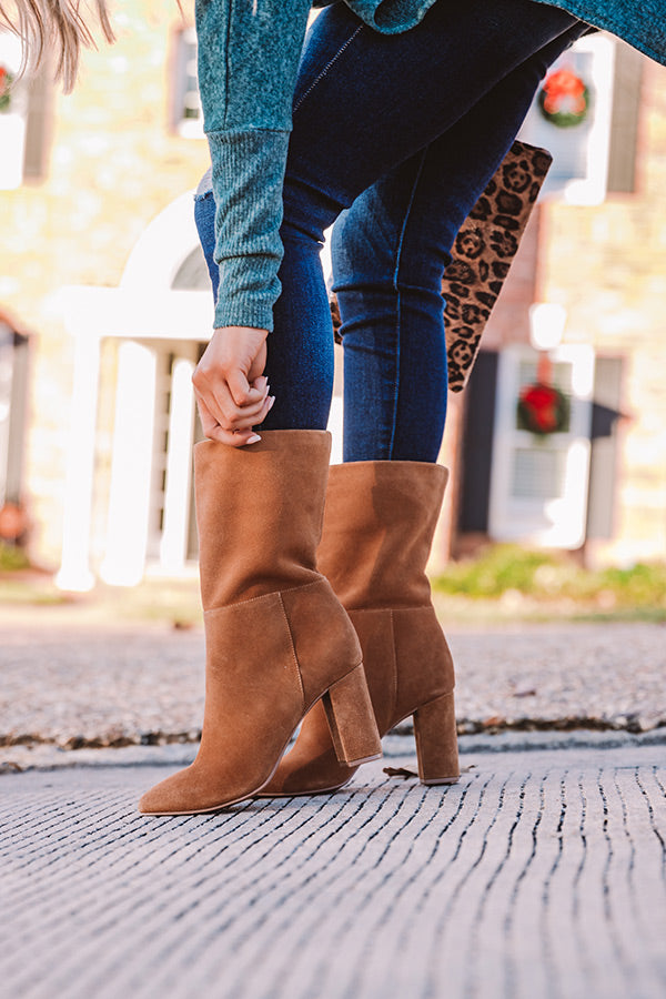 Keep Up Suede Boot in Brown