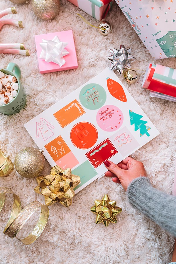 Holiday Gift Tag Sticker Sheet