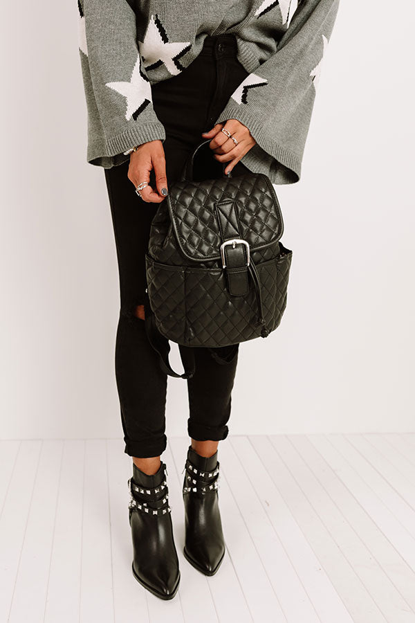 Big Plans Quilted Backpack In Black