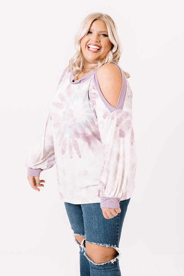 Days In Denver Tie Dye Top In Lavender