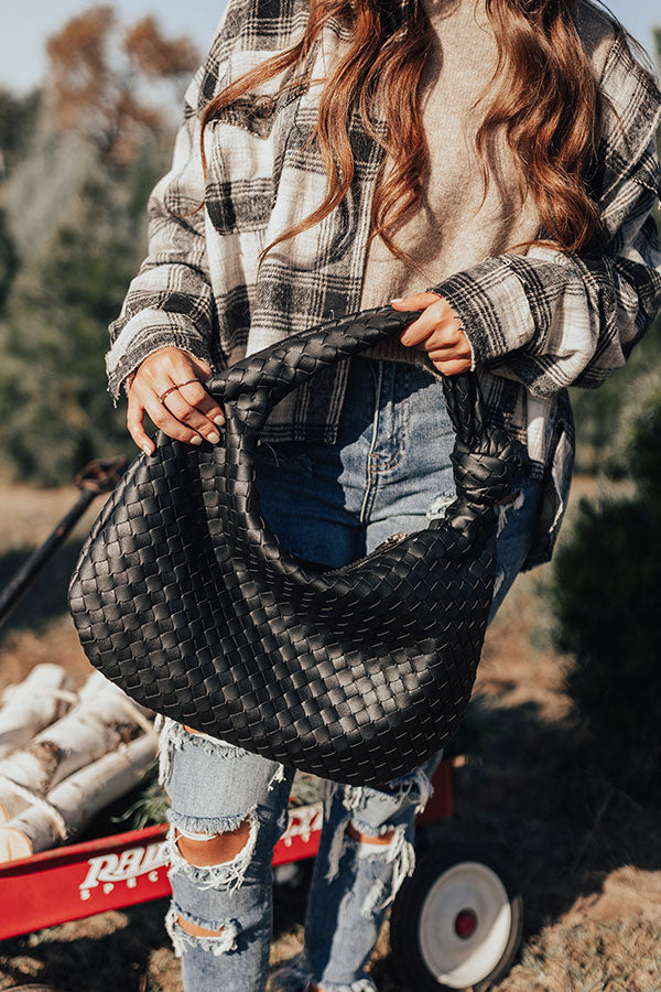 Dreaming Of Sonoma Woven Tote In Black