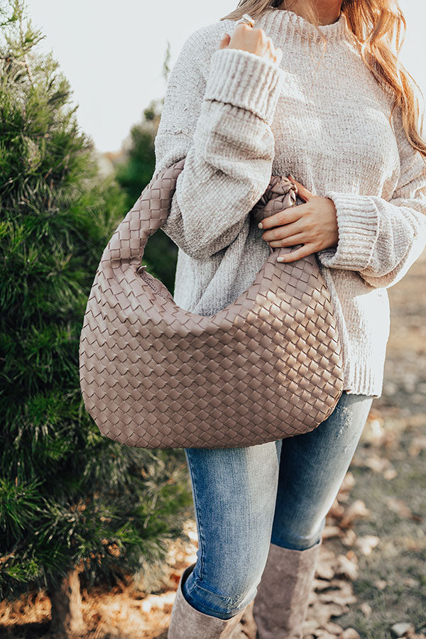 Dreaming Of Sonoma Woven Tote In Taupe