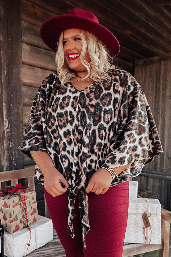 Dulce De Darling Leopard Tie Top