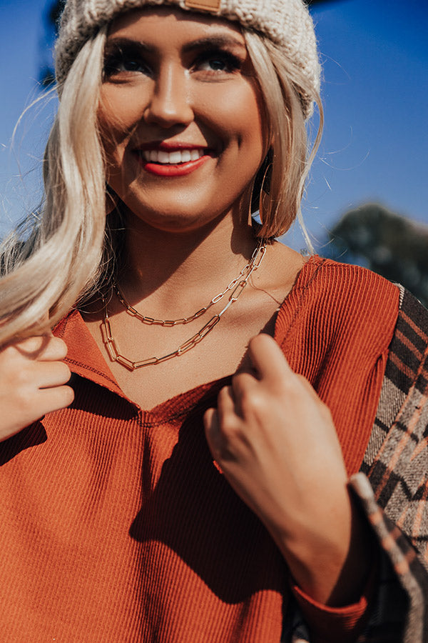 Free Fallin' Chain Link Necklace