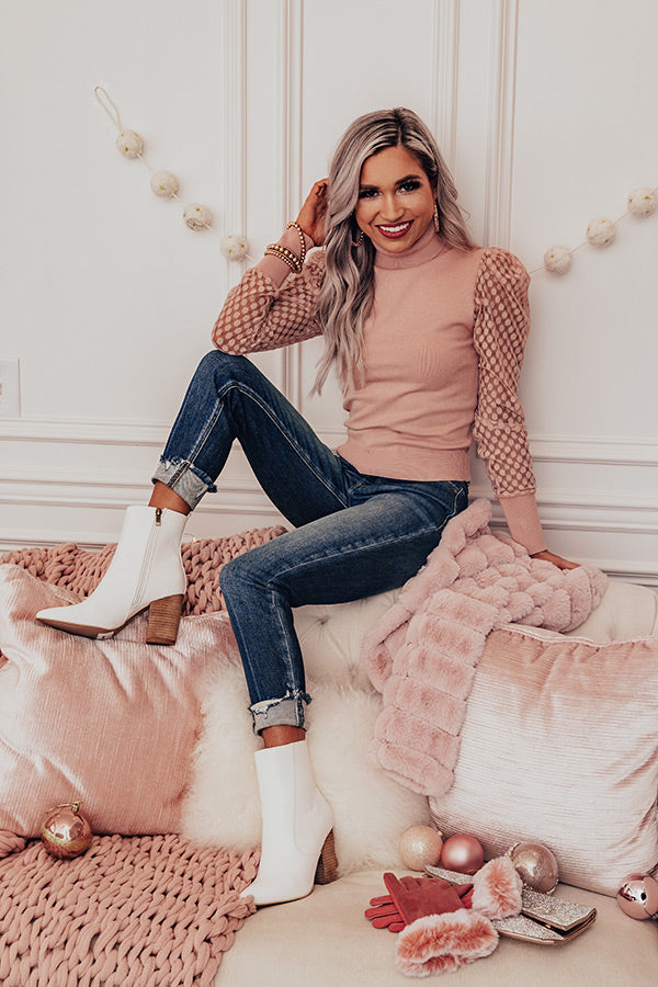 Cocktail Meetup Top In Blush