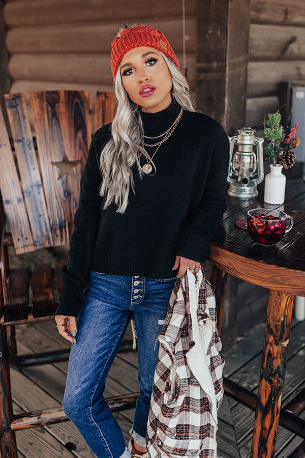Maude Spot Sweater In Black