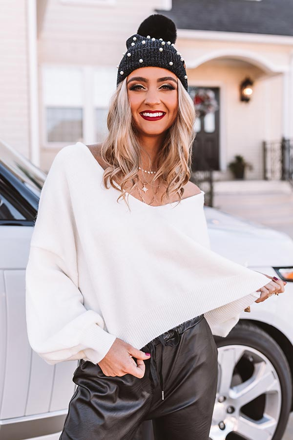 It Girl Status Sweater In White