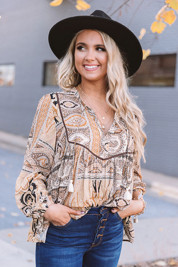 Show Tune Paisley Shift Top