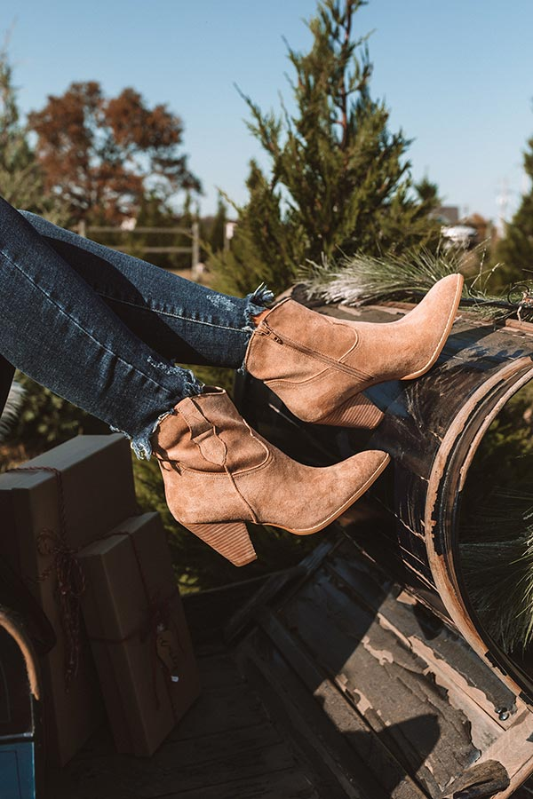 The O'Conner Faux Suede Bootie In Tan