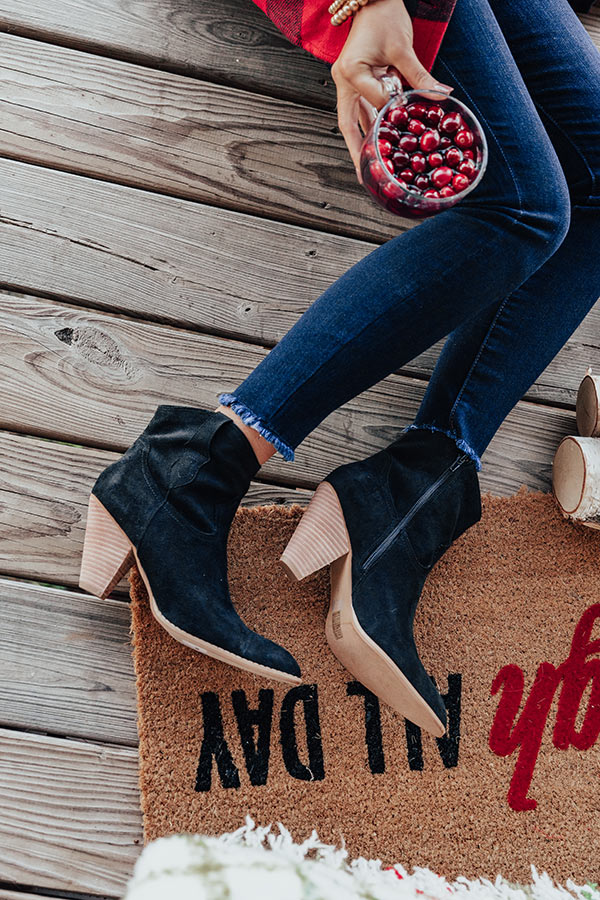 The O'Conner Faux Suede Bootie In Black