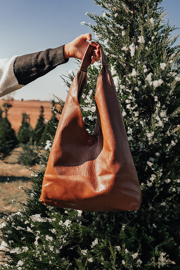 Close To The City Faux Leather Tote In Chocolate
