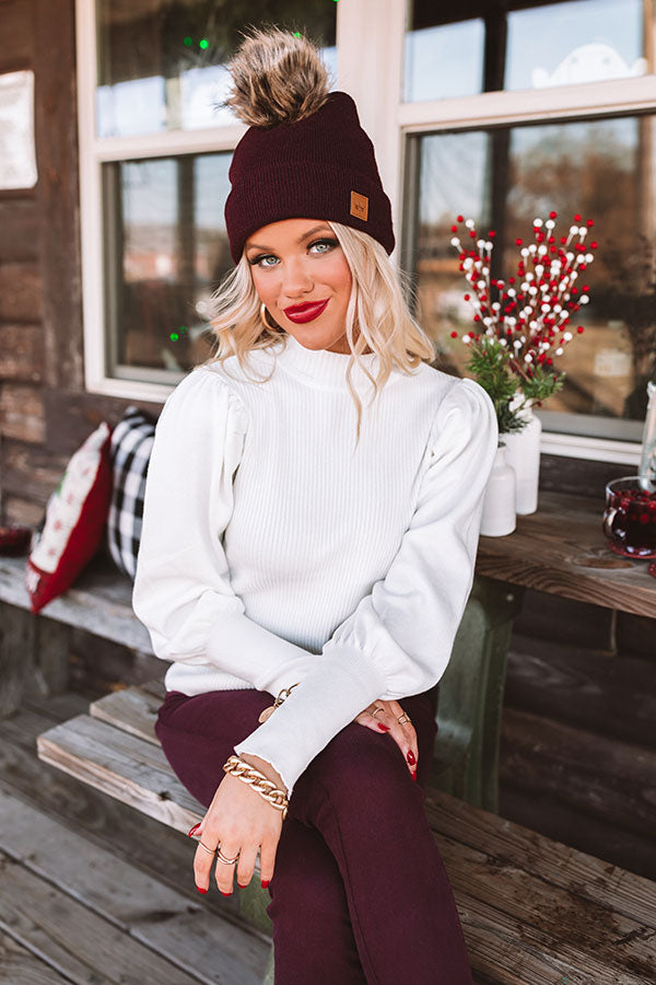 Fashion Scene Sweater Top in Ivory