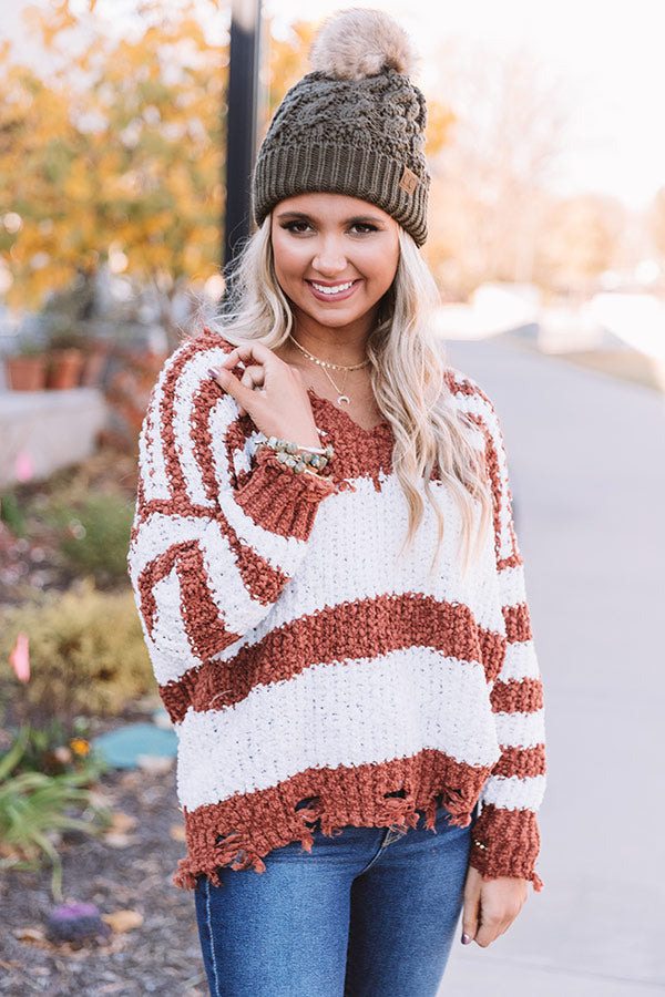 Latte Meet Up Stripe Sweater