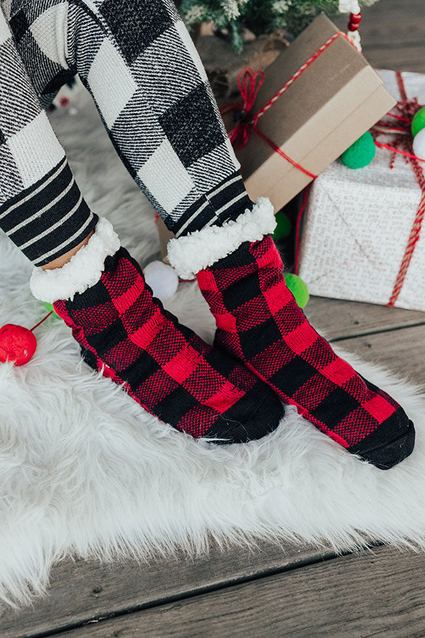 Flurry Forecast Sherpa Lined Slipper Socks
